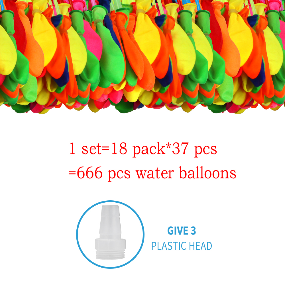666 Pcs Water Balloons Self Sealing With Water Fight Games For Kids Adults Summer Water Balloon Party Toys