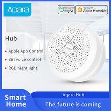 Aqara Hub Mi ağ geçidi 3 Zigbee bağlantı Mi jia akıllı ev ile çalışmak Mi jia sıcaklık Hu mi kir sensörü kapı pencere sensörü