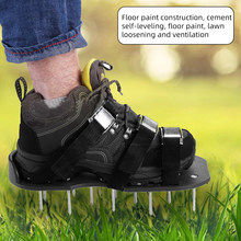 Lawn Aerator Shoes Grass Spiked Gardening Walking Revitalizing Lawn Aerator Sandals Shoes Yard Garden Nail Shoes Tool 1Pair(China)
