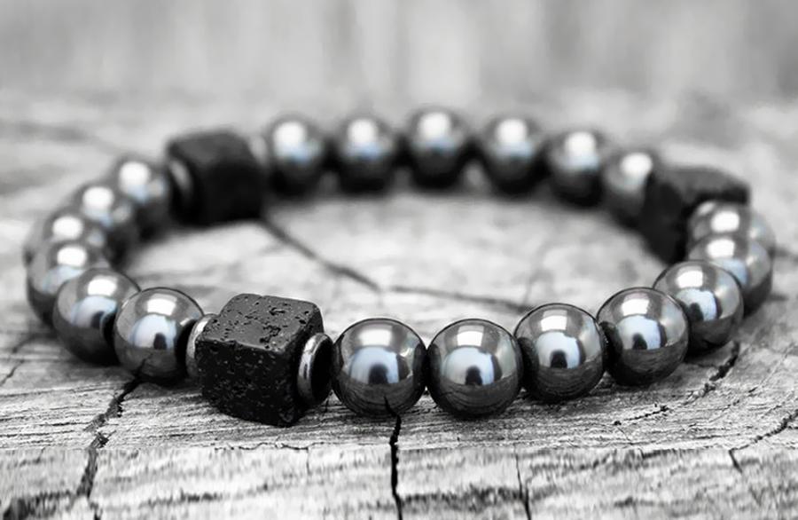 H9ee56ae5186444849716e07e3b1fcdb5C Men Bracelet Natural Matte Stone Hematite Beads Bracelets