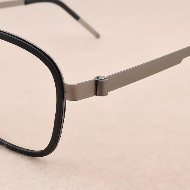Image 4 - 2019 fashion brand Square eyeglasses Women's titanium glasses frame men optical glasses frame women spectacle frames Men's 9708-in Men's Eyewear Frames from Apparel Accessories