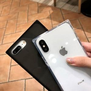 Image 1 - 4 Gasbag açılan geçirmez yumuşak iphone için kılıf xs MAX XR X 10 7 8 artı 6 6s temizle TPU silikon şeker Anti vuruş telefon kapak