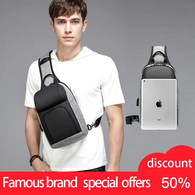 Многофункциональные сумки через плечо для мужчин, зарядка через usb, нагрудный пакет, Короткие походные мессенджеры, нагрудная сумка, водоотталкивающая сумка на плечо для мужчин