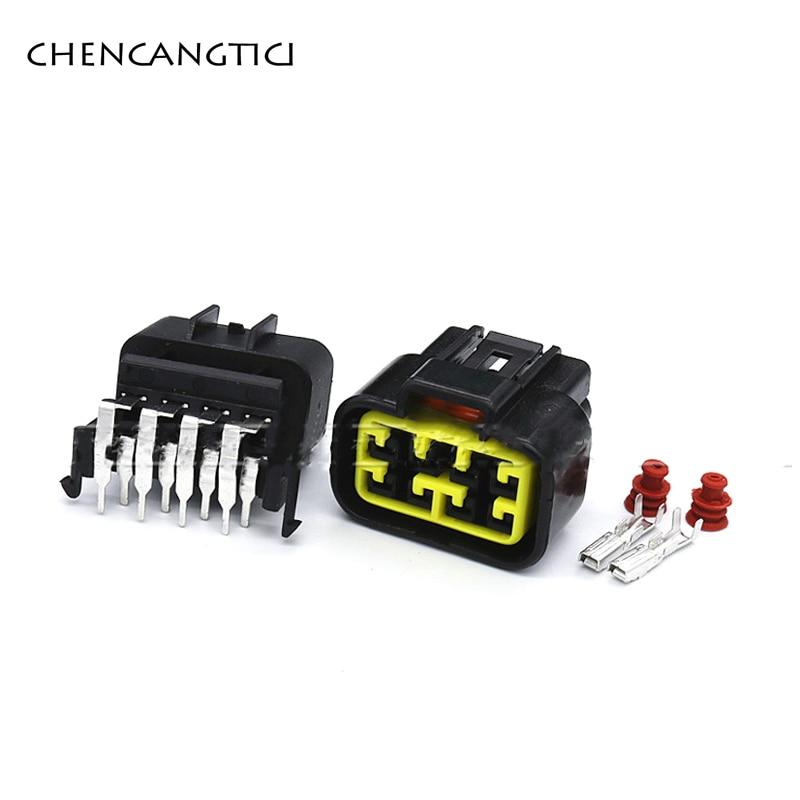 5 Sets 8 Pin forma Furukawa Auto lámpara de luz arnés de cables de enchufe impermeable 2,3 MM negro hombre o mujer conector FW-C-8F-B