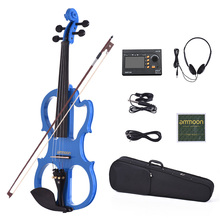Pegs Violin-Accessories Ammoon Fiddle Body-Fingerboard Solid-Wood Maple Silent Full-Size