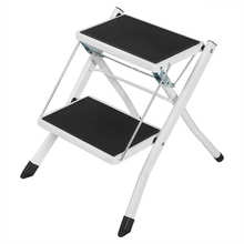 Anti Slip 2 Tread Safety Step Ladder Folding Step Stools With Tool Safety Step Ladder