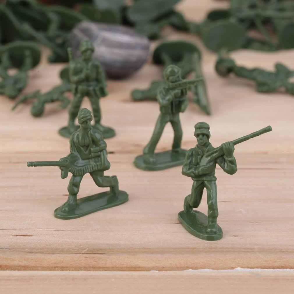 OCDAY 100 adet/paket askeri plastik oyuncak askerler ordu erkekler figürleri 12 pozlar hediye aksiyon figürü oyuncakları çocuklar için yeni satış