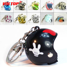 Mini Motorcycle Helmet Car Key Chain Accessories Ring Holder Pendant Hard Hats Creative Gift Keychain