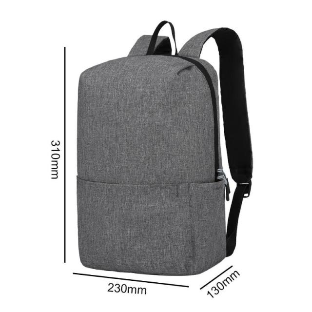 Solid Color Backpacks Oxford Cloth Big Waterproof Outdoor Travel Sports Knapsack