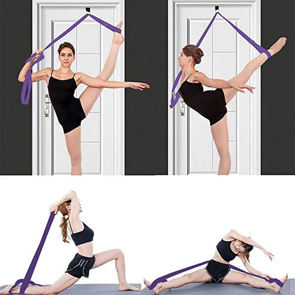 2020 New Yoga Resistance Belts Leg Stretcher Door Flexibility & Stretching Leg Strap - Great For Yoga Ballet Dropshipping