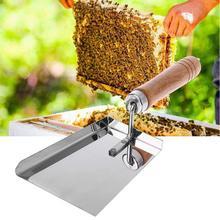 Новые Чистящие Улей Лопатой Из Нержавеющей Стали Деревянная Ручка Пчеловодство Инструмент Чистые Инструменты Совок Пчеловодства Деревянной Ручкой Лопатой Меда