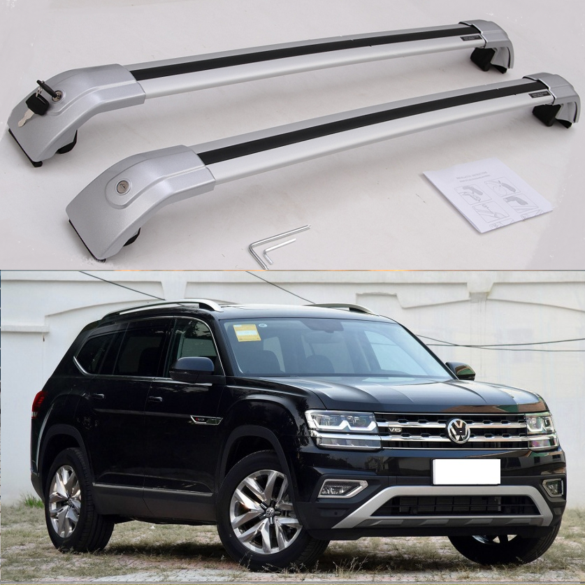 new silver for vw volkswagen atlas teramont 2017 2018 2019 2020 baggage luggage roof rack roof rail cross bar