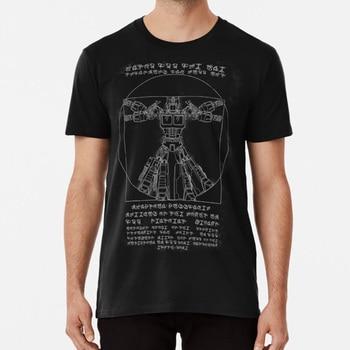 De Vitruvio primer T invertida camisa leonardo autobot optimus Prime de Vitruvio