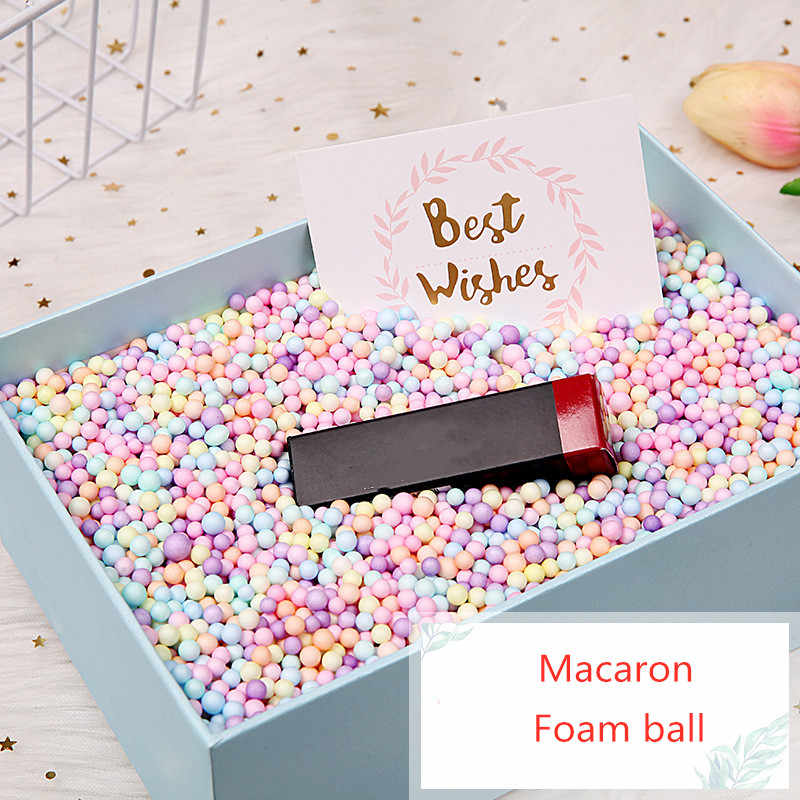 5 g/saco colorido bola de espuma caixa de presente enchimento caixa de doces suprimentos de embalagem de presente festa de aniversário decorações de casamento caixa de flor enchimento