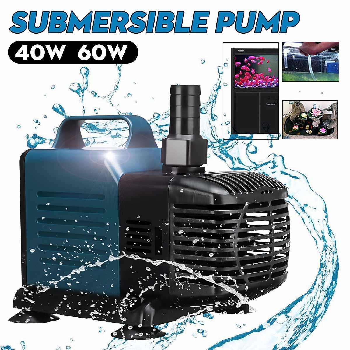Pompa Air Akuarium untuk Tangki Ikan Hidroponik Air Submersible Pompa Air Terjun Kolam Renang Pompa Air Mancur Beredar Filter