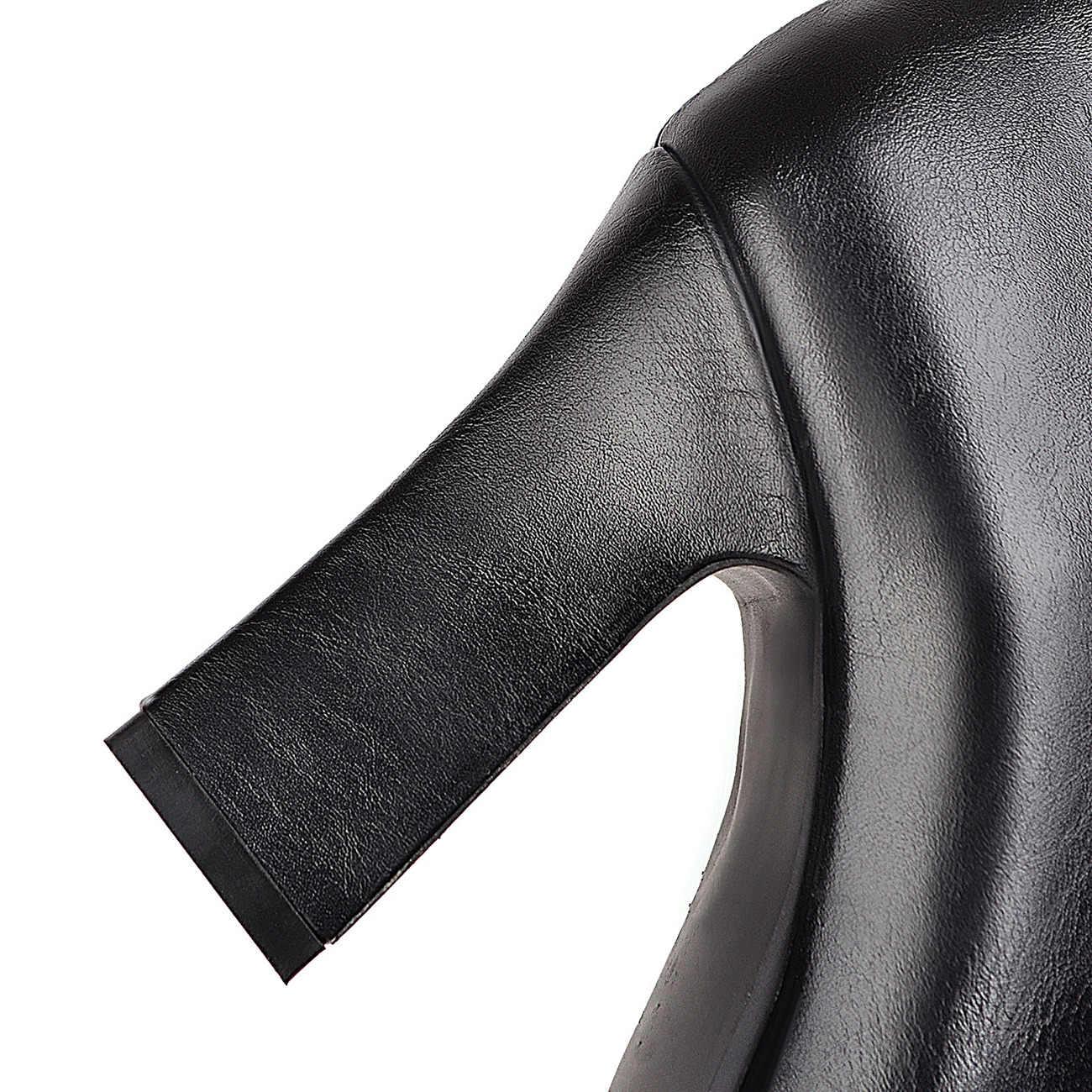 """Tobillo Botas Mujer PU Cuero Tacones Altos Botas Occidental Punta Puntiaguda Cremallera Moda Invierno Mujer """"Botas Zapatos Mujer"""
