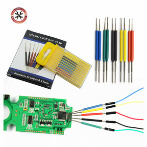 10pcs/set High Quality micro IC clamp SOP/SOIC/TSSOP/TSOP/SSOP/MSOP/PLCC QFP SMD IC Chip pin CLIP DIP mini chip clip(China)