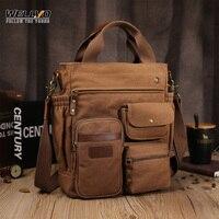 Bolso de lona de negocios para hombre, tipo bandolera bolso de hombro, Vintage, Retro, marrón, XA74C