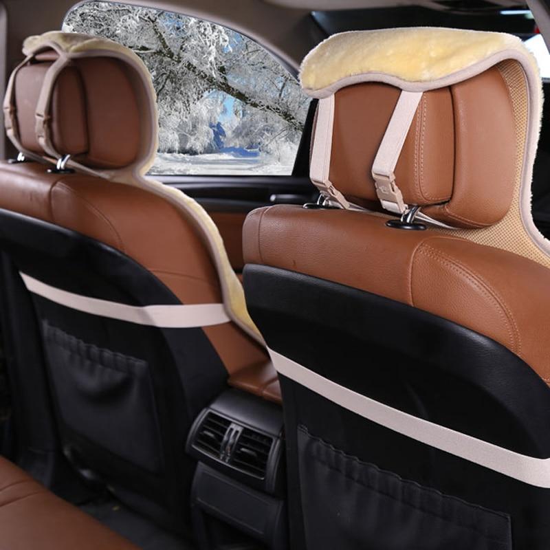 Faux fur Car Seat Cover winter White Universal Automotive interior Artificial fur Car Seat Cushion For