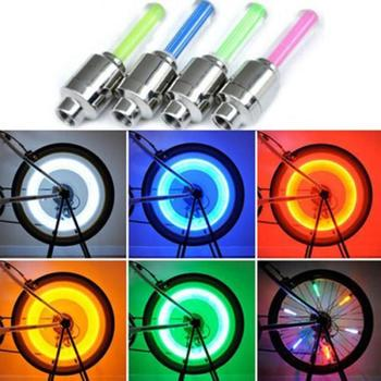 1 Pair Bike Bicycle Car Wheel Tire LED Valve Cap Spoke Lamps Light New Durable Cycling Light Bike Accessories image