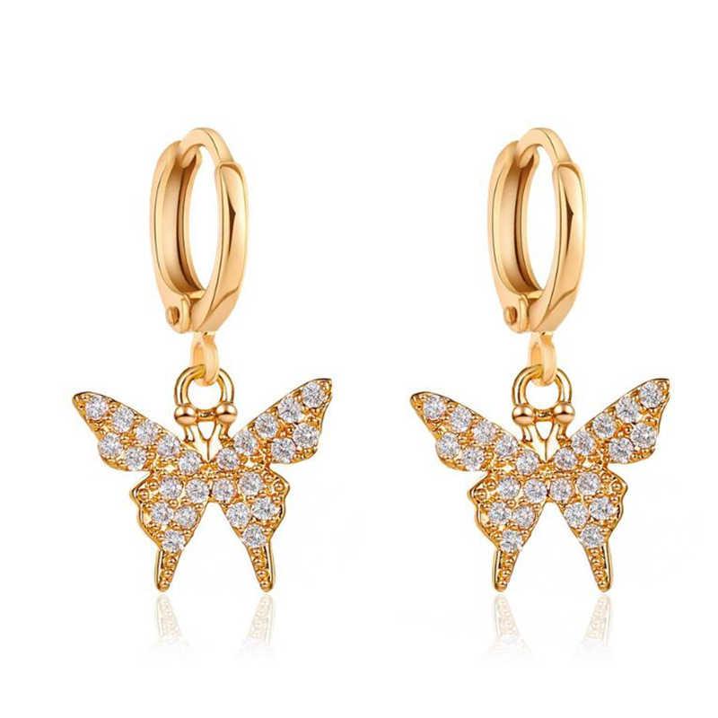 Butterfly Dangle Stud Earrings Ear Rings Hollow Birthday For Women Women Gifts C