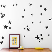 39pcs/set Cartoon Star Wall Stickers For Kids Bedrooms Home Decor Little Stars Wall Decals Baby Nursery DIY PVC Art Mural(China)