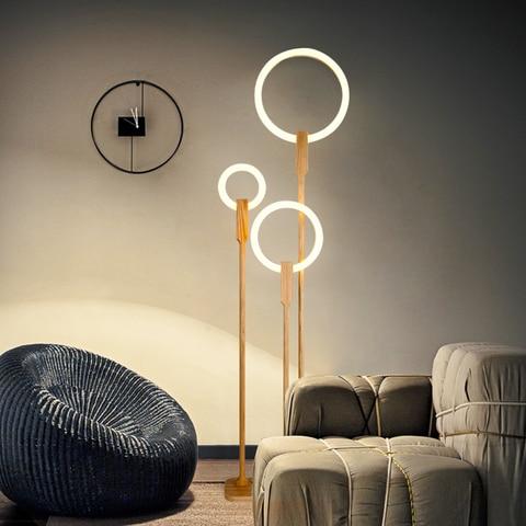 sala estar em pe lampada moderna iluminacao