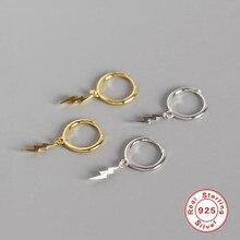 ROXI Fashion Lightning Pendant Small Hoop Earrings for Women Jewelry Gold Silver Huggie Earring Gift 925 Sterling Silver Earring