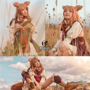 Image 2 - Disfraz de Cosplay de ROLECOS, Anime The Rising of the Shield Hero Raphtalia, conjunto completo de disfraz de Tate no Yuusha no ariagari