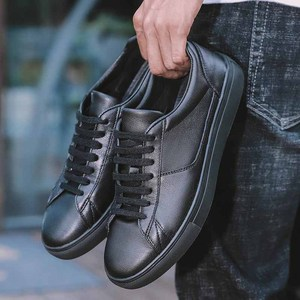 Image 2 - REETENE עור גברים של נעלי ספורט מוצק שרוכים מזדמן זכר נעלי לבן גברים של נעלי נעליים שחורות רך נוחות הנעלה משלוח חינם