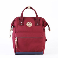 Fa Backpack Women's Casual Travel Bag Solid Color Simple Classic Backpack Waterproof Simple Fashion School Bag