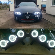 For Alfa Romeo Brera Spider 2005 2006 2007 2008 2009   2011 Excellent Angel Eyes Ultra bright smd led Angel Eyes kit halo rings