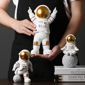 Image 2 - Modern Astronaut Sculpture Resin Figure Statuetes Spaceman Abstract Statue Home Decoration Accessories Craft figurine Decor