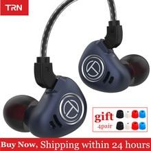 Nova trn v90 1dd 4ba híbrido fones de ouvido graves alta fidelidade 10 unidade no monitor metal fone com cancelamento ruído v80 zsx x6