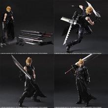28cm Play Arts Final Fantasy VII Cloud Strife Action Figure PVC Cloud Strife Sammlung Modell Spielzeug Puppe