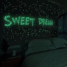 457 stücke Dot Leuchtende Sterne Wand Aufkleber Home Decor Wohnzimmer Decor Glow In The Dark Spielzeug