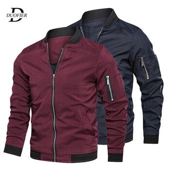 Nueva chaqueta Bomber con cremallera de otoño para hombre, ropa de calle de primavera informal para hombre, abrigo de piloto ajustado de Hip Hop, ropa de hombre de talla grande 5XL 6XL