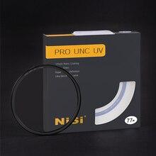 NiSi Ultra Slim PRO NANO UNC UV filtresi çok kaplamalı Lens koruyucu H K9L, 52mm 58mm 62mm 67mm 72mm 77mm 82mm