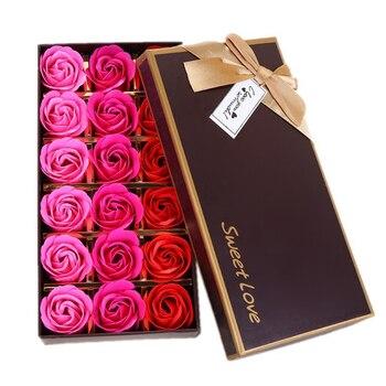 Fiore di rosa scatola regalo della decorazione camera decorazione accessori per la casa decorazione di cerimonia nuziale regalo living room decor natale decorazioni