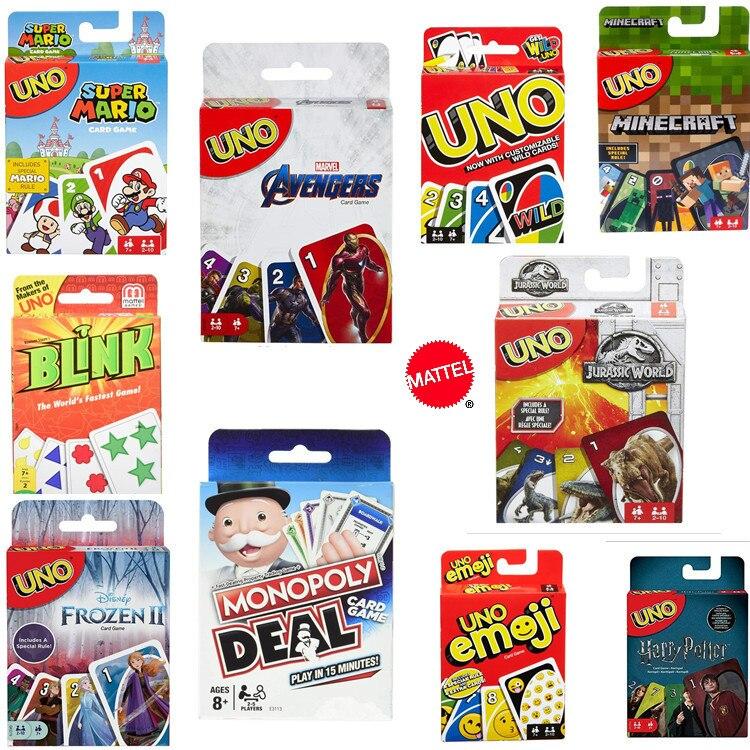 Martel 2020 новая игра uno Monopoly Мстители семья Смешные развлечения компания Забавный покер подарочная коробка покер uno игры игрушки