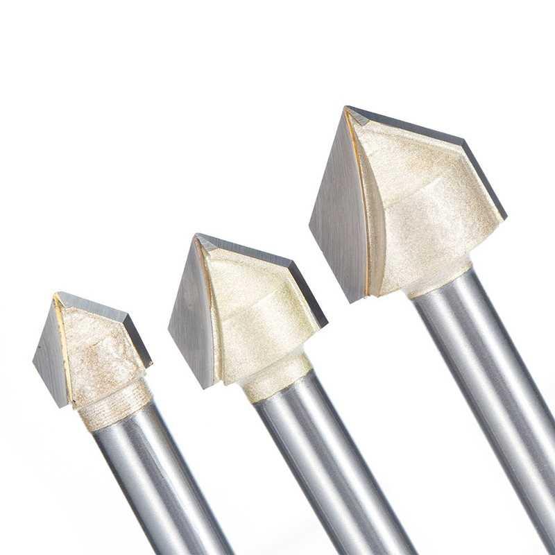 Juego de 4 brocas de 90 grados en V para fresado de carpinter/ía CNC grabado en V
