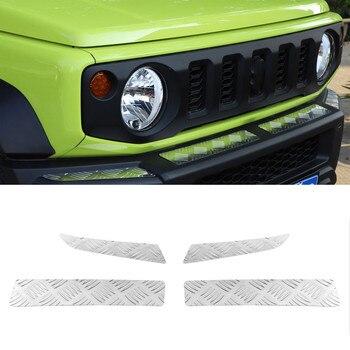 For Suzuki Jimny 2019+ Car Front Bumper Trim Styling Auto Moldings 4pcs/set Aluminum Alloy Car Accessories