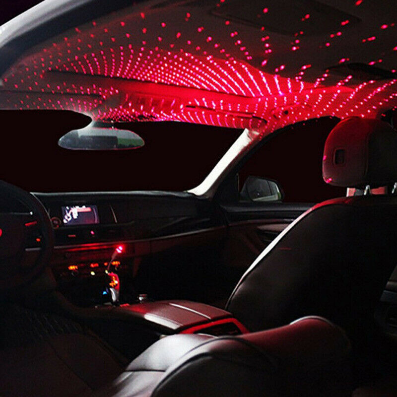 Romantic Car USB Roof Star Projector Lights For All Cars Ceiling Decorative Interior Atmosphere Red&Blue