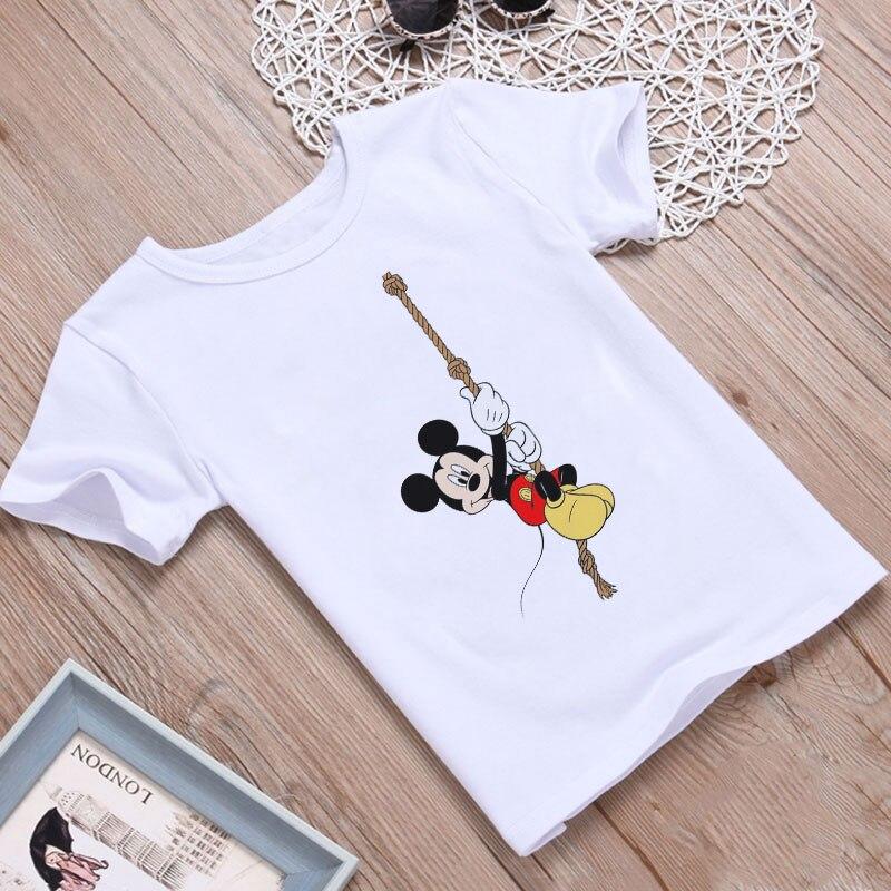 Newest 2020 T-shirt Kids Kawaii Super Mouse Painting Girl Tshirt Children Summer Fashion Shirt Kids Short Sleeve Funny Leisure