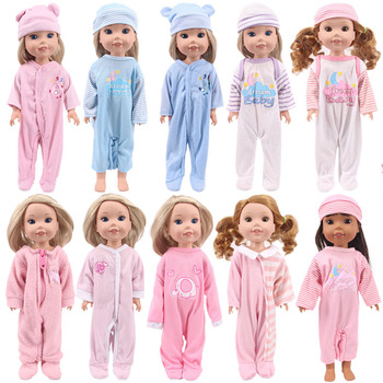 Doll Cartoon Elephants Clothes Jumpsuits Siamese Hooded Pajamas For 14.5 Inch Nancy Wellie Wishers Doll Generation Girl`s Toy image