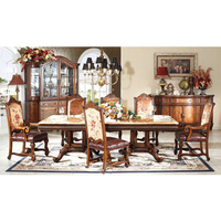 Luxury classical dining room furniture set tables with chairs Столы со стульями GH150
