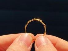 18K import Solide Gelb Gold Schmuck (AU750) Frauen Mode Dame Hochzeit Party Ring Anhänger Halskette Kette