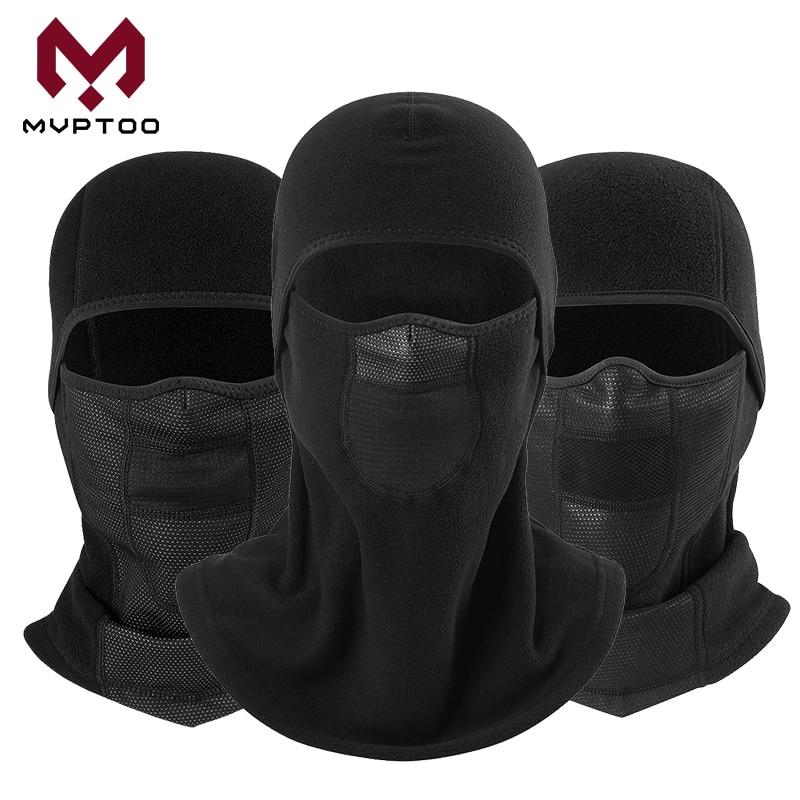 Black Windproof Balaclava Face Shield Winter Warmer Fleece Cap Motorcycle Motorbike Racing Outdoor Sport Head Mask Hood Liner|Motorcycle Face Mask| |  - title=