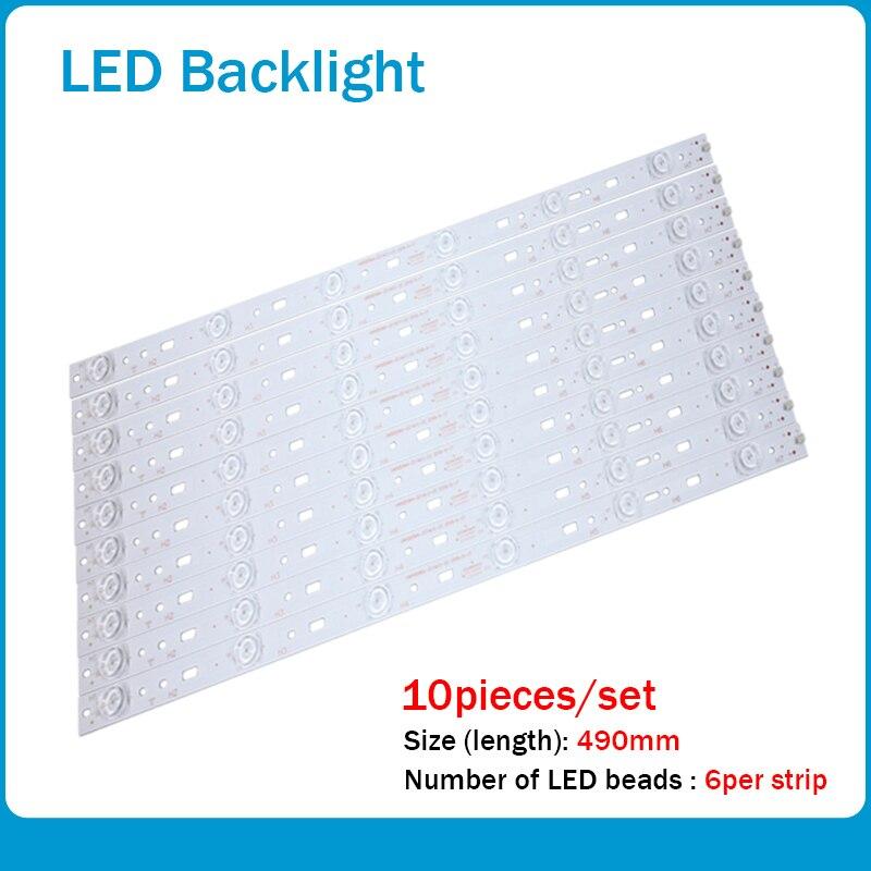 10pcs/lot For PPTV-50C2S K50J Led Backlight 303SW500031 SW50D06A-ZC14CG-02 7765-650000-D000 6lamps