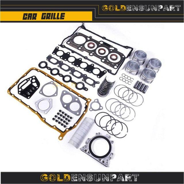 06B 107 065 N Engine Piston Gasket Seal Bearing Overhaul Kit For VW Jetta Passat Golf Audi A3 A4 A6 TT 1.8T AWP 058103383K 2